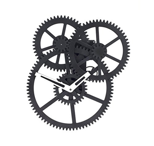 バーゲンで Wall Triple Gear Kikkerland Clock(品) Black-その他家電