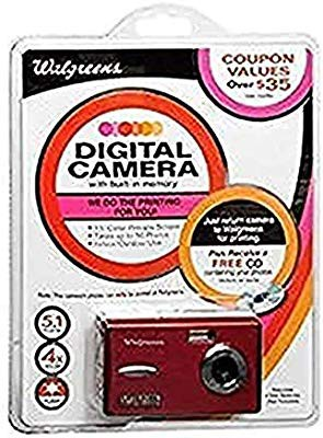 5.1?MPデジタルカメラwith 1.5インチ画面(89480-red-wg)(品)