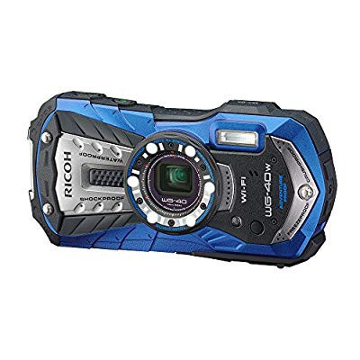 1着でも送料無料 RICOH 防水デジタルカメラ ブルー RICOH RICOH WG-40W WG-40W ブルー 防水14m耐ショック1.6m耐寒(品), Brillance:569956f2 --- dorote.de