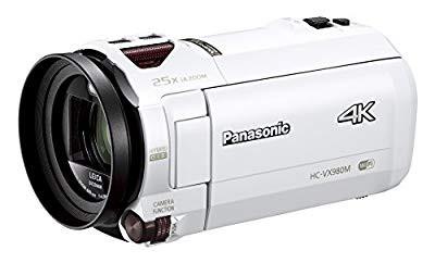 【最安値挑戦!】 64GB ホワイト デジタル4Kビデオカメラ パナソニック あとから補正 VX980M (品)-リサイクル家電