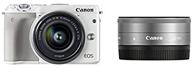 低価格 Canon ミラーレス一眼カメラ EOS M3 ダブルレンズキット(ホワイト) EF-M15-(品), Cat&Dogのお店 わんぱく 伊豆高原 6e4ebfa2