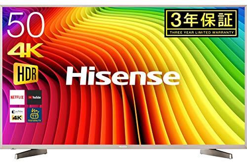 【上品】 外付けHDD裏番組録画 4K 50V型 テレビ HJ50N5000 液晶 ハイセンス Hisense (品)-テレビ本体