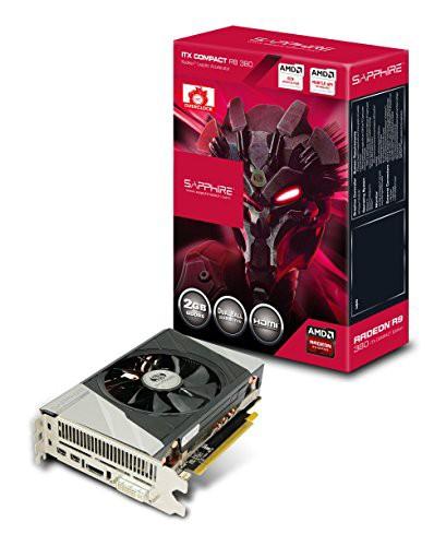 【お得】 PCI-E グラフィックスボー(新古未使用品) 380 2G COMPACT ITX GDDR5 Sapphire H/D/2MDP R9-その他パソコン・PC周辺機器