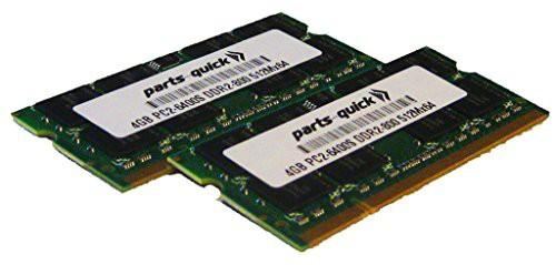注目ブランド (P(新古未使用品) キットメモリ PC2-6400 8GB DDR2 東芝Tecra (2X4GB) SODIMM S10-170 RAM-その他パソコン・PC周辺機器