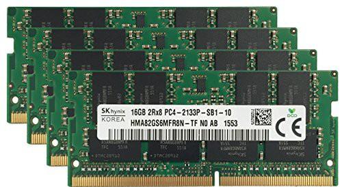 最高の品質の メモリアップグレード 対 オリジナル ノートパソコン 64GB (4x16GB) (新古未使用品) Hynix-その他パソコン・PC周辺機器