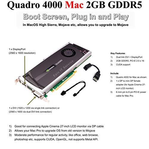 魅了 itサービス???Quadro Epic Mac Pro、2?GB 4000?for Apple gddr5?P(新古未使用品) Mac、for-その他パソコン・PC周辺機器