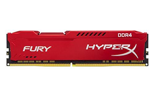 【日本限定モデル】 CL19 1.2V Fury HX434C19FR/16 DDR4 HyperX 3466MHz キングストン 16GB Red(新古未使用品)-その他パソコン・PC周辺機器