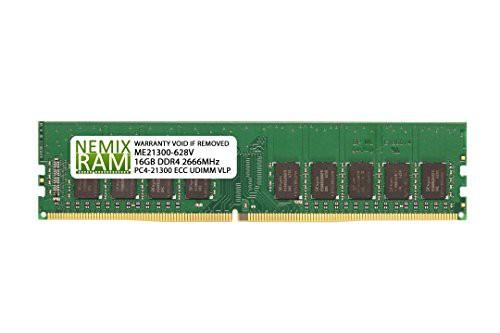 『4年保証』 UDIMM VLP DDR4-2666 インテルS1200SPS用(新古未使用品) 2Rx8 ECC 16GB RAM NEMIX-その他パソコン・PC周辺機器