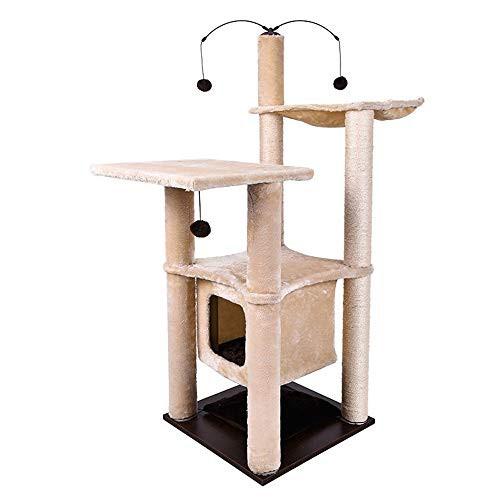 ラウンド  キャットタワー 麻猫クライミングフレームペットグッズ猫の登山木のおもち (新古未使用品), アルファーオート daf0e13e
