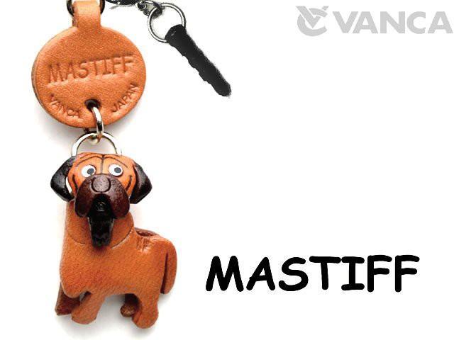 マスティフ 犬 イヤホンジャックアクセサリー/レザー 本革 VANCA/バンカクラフト革物語 43880