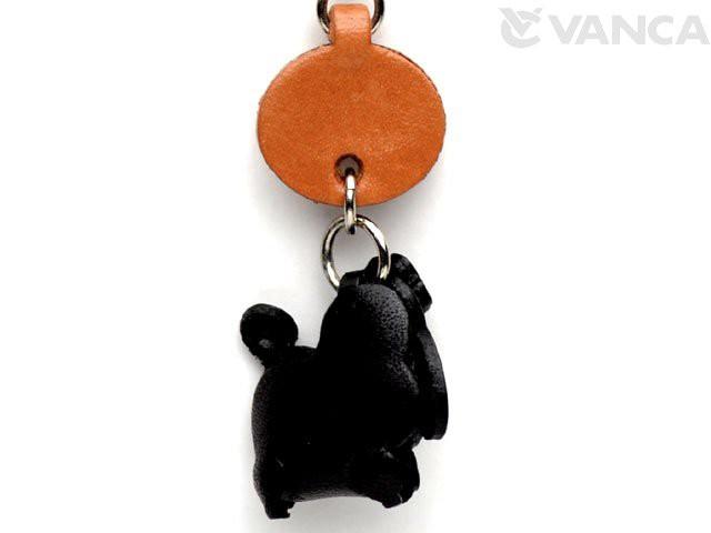 プードル ブラック 犬 イヤホンジャックアクセサリー/レザー 本革 VANCA/バンカクラフト革物語 43867