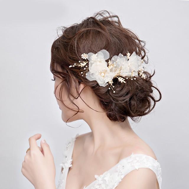 ウェディング ヘッドドレス パーティー ヘアアクセサリー 小物 髪飾り