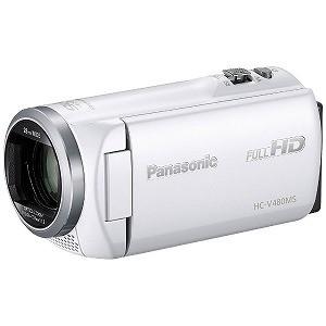 満点の SD対応 32GBメモリー内蔵フルハイビジョンビデオカメラ パナソニック HC-V480MS-W (ホワイト)-ビデオカメラ