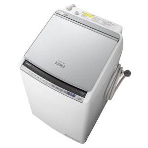 最適な材料 縦型洗濯乾燥機 [洗濯9.0kg/乾燥5.0kg/ヒーター乾燥] BW-DV90E-S シルバー(標準設置無料) 日立-洗濯機