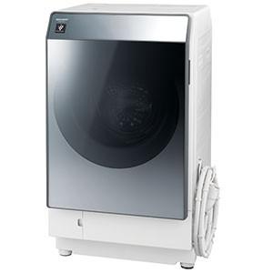 【オンライン限定商品】 ES-W112-SR シルバー系(標準設置無料) シャープ ドラム [洗濯11.0kg/乾燥6.0kg/ヒートポンプ乾燥/右開き]-洗濯機
