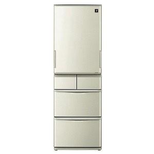 カウくる シャープ SHARP 5ドア冷蔵庫 [412L・どっちもドアタイプ] SJ-W411F-N ゴールド系(標準設置無料), ネットワークカメラのCamTech 1c0dc452