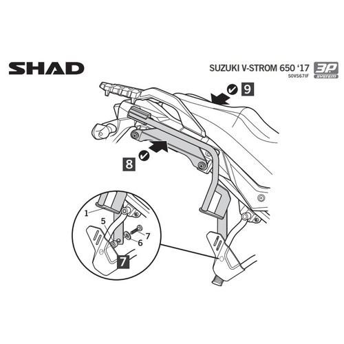 Soporte de maletas Shad 3P System V-Strom 650