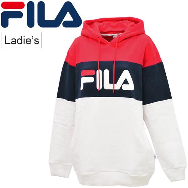 65803555f6d スウェット パーカー レディース フィラ FILA プルオーバーフーディ スエット トレーナー 女性 スポーツ トップス スポカジ/FL3364