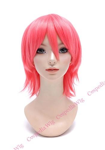 【即納】アレンジショート サーモンピンク ショート コスプレウィッグ コスプレ ウィッグ wig コスウィッグ 耐熱