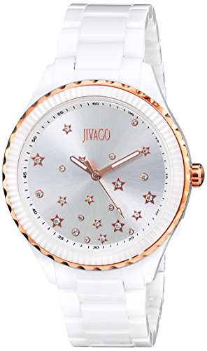 【10%OFF】 【送料無料】【[ジバゴ]Jivago Dial 腕時計 JV2412 Sky 腕時計 Quartz Silver Dial JV2412 White & Gold Ceramic レディース [並行, ワイルドクラス:e698e14b --- kzdic.de