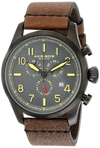 【最安値】 【送料無料】【[アクリボス XXIV]Akribos XXIV 腕時計 Ultimate Analog Display Swiss AK705BKBR メンズ [並行輸, 五木村 ae560aaa