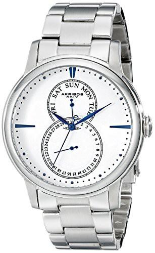 人気新品 【送料無料】 Silver-tone【[アクリボス XXIV]Akribos XXIV 腕時計 Stainless Silver-tone Stainless Steel Steel Watch AK728SSW メンズ [並行, おいしい和歌山のみかん屋さん:e6b8e825 --- pensiongaller.de