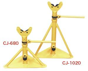 人気が高い  ジェフコム デンサン 通線工具 ケーブルジャッキ(ローラー軸受式)2台セット CJ-1020, ゴールドエコ 73e7a34c