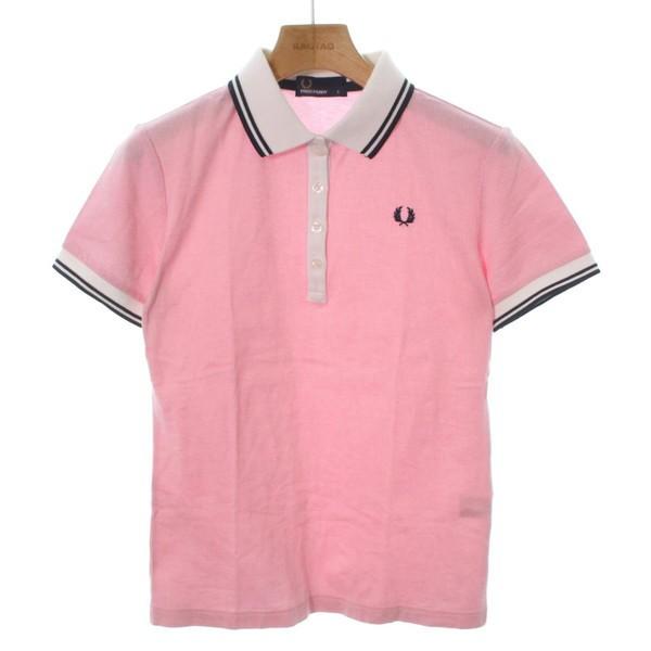 acce57dcd7b4 FRED PERRY / フレッドペリー レディース Tシャツ・カットソー 色:ピンクx白等