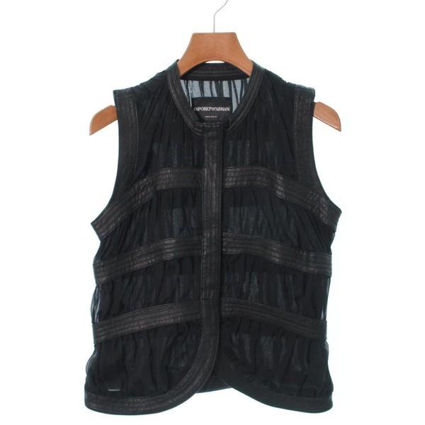 size 40 de118 81e69 EMPORIO ARMANI / エンポリオアルマーニ レディース シャツ・ブラウス 色:黒 サイズ:40(M位)|au Wowma!(ワウマ)
