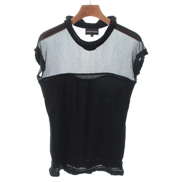 size 40 39877 526c4 EMPORIO ARMANI / エンポリオアルマーニ レディース シャツ・ブラウス 色:黒 サイズ:40(M位)|au Wowma!(ワウマ)