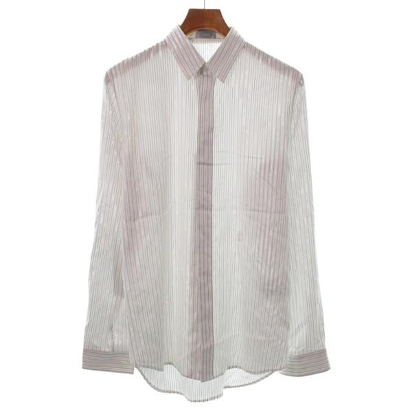 pretty nice cbe1c 18198 Dior Homme / ディオールオム メンズ シャツ 色:白系xグレー系xシルバー系(ストライプ) サイズ:39(M位)|au  Wowma!(ワウマ)