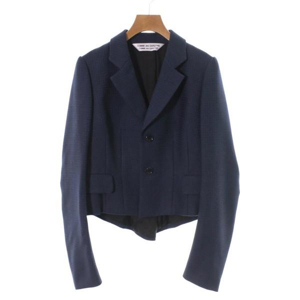 『1年保証』 des ジャケット 色:紺系x黒(総柄) GARCONS レディース des サイズ:-(M位) COMME GARCONS コムデギャルソン コムデギャルソン / COMME-アウター