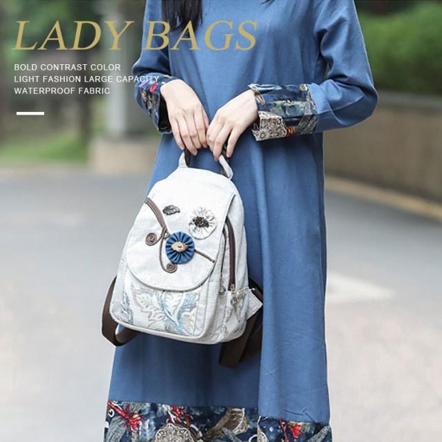 チャイナ民族風ミニリュック 斜め掛けバッグ 手つくりバッグ 刺繍 リュック レディース リュックサック かわいい バッグ レディース