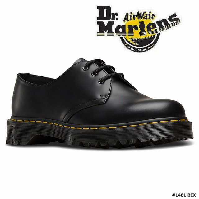 生まれのブランドで レザー ドクターマーチン ブラック ベックス レディース BEX メンズ 3ホールシューズ Dr Martens 厚底 1461 21084001-靴・シューズ