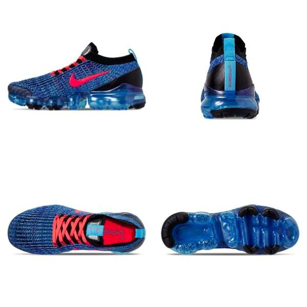 NIKE AIR VAPORMAX FLYKNIT 3 BLUE FURY//FLASH CRIMSON AJ6900-401