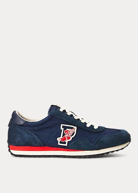 【予約中!】 ラルフローレン メンズ スニーカー Polo Ralph Lauren Train 90 Sneaker シューズ Newport Navy, キタカツラギグン 267dd3c7