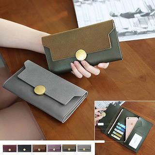 2cdc4359c7f7 三つ折り財布 レディース 長財布 かぶせ カード入れ 薄型長財布 ロングウォレット 即納送料