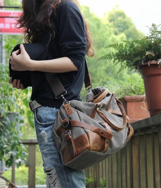 レディースバッグ キャンバス レジャー ファッション マッチングしやすい 手提げバッグ/斜め掛け 旅行/通学/ビジネス/鞄/布 レディースバ