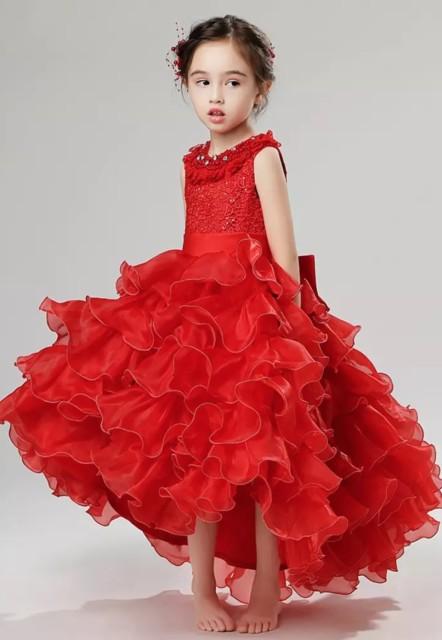 子供 ドレス フィッシュテール ドレス 赤ピアノ 発表会 ドレス 子供 100,160 ドレス 子供 結婚式 キッズ ドレス 子供 ドレス  結婚式の通販はWowma!