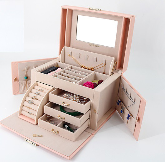 女性 プレゼント クリスマス アクセサリー ボックス ジュエリーボックス 大容量 宝石箱 ジュエリーケース 収納 ジュエリーボックス ピア