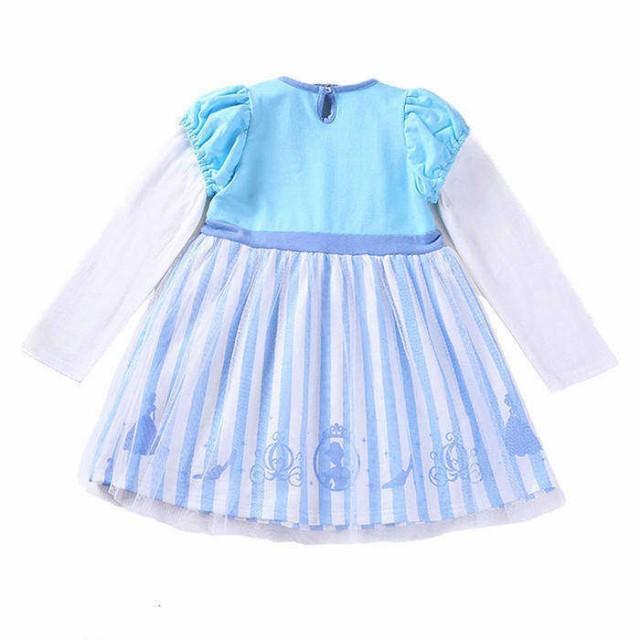 22290abfe6321 子供向けのハロウィンコスチューム風のドレス 膝丈ドレス 水色ドレス 女の子 女児キッズ