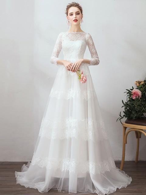 bd0f77b1bc442 激安 大人気チュール ウェディングドレス 白 二次会 花嫁 カラードレス 大きいサイズ ウェディング 白 ドレス ロング