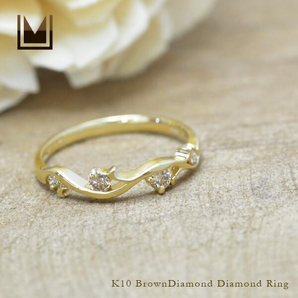 卸し売り購入 ブラウンダイヤモンド 10K ダイヤモンド 送料無料 リング ゴールド K10 送料無料 K10 10K 10金 4月誕生石 プレゼント 天然石, こだわりパンダ:dd343248 --- frauenfreiraum.de