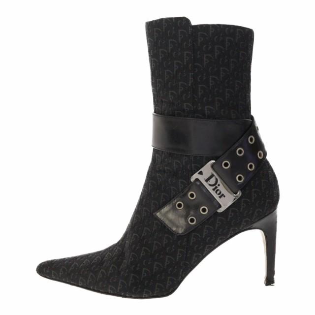 hot sale online 5adc4 5ff2c クリスチャンディオール ブーツ 靴 23cm ブラック×グレー 【♀】 【B】/b190605/RF4■293760【中古】