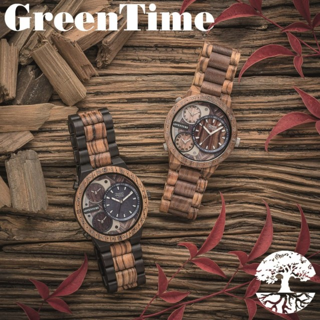 9a7ee59953 【送料無料】GreenTime グリーンタイム 腕時計 クォーツ ギフト プレゼント 木製 ハンドメイド イタリア メンズ ZW078A