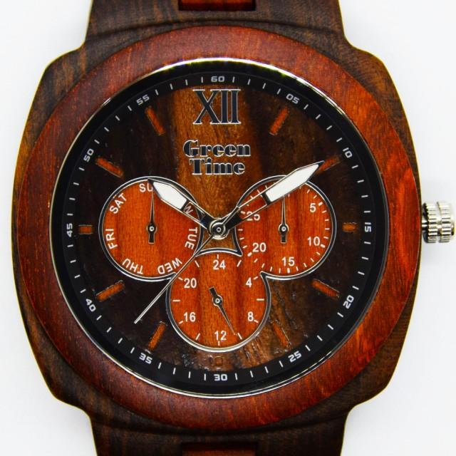 e5b618a81d 【送料無料】GreenTime グリーンタイム 腕時計 木 クォーツ ギフト 木製 ハンドメイド イタリア メンズ ZW049B