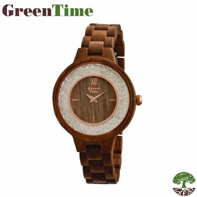 80b5c50fdc 【送料無料】GreenTime グリーンタイム 腕時計 クォーツ ギフト 木製 ハンドメイド イタリア レディース ZW082A