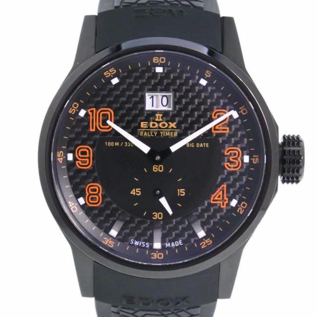 人気新品 EDOX エドックス ラリータイマー 64008-37N-NOR SS オレンジ クオーツ 黒文字盤 腕時計 メンズ, エドウインショップ(EDWIN) 1b052d92