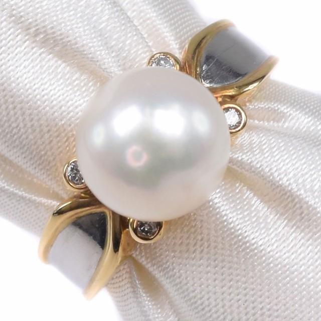 【特別セール品】 真珠 K18イエローゴールド 10号 リング・指輪 レディース 【】 ランクA, ベストコーヒー通販 2aa87a8a