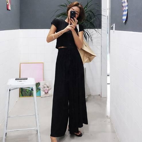 シンプル! ベーシックアイテム ラフスタイル ゆるやか 着やすい セットアップ 3色 【b0018】